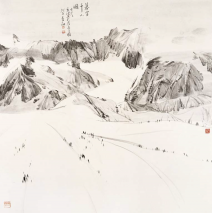 Thousans snow capped Peak and Dust  69x70cm)